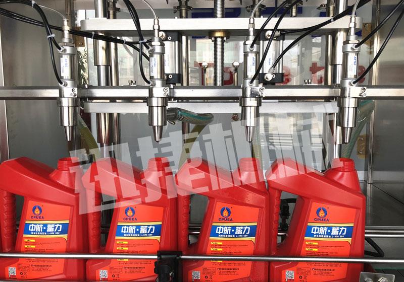 全自动六头防冻液灌装生产线